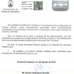 Solicitud presentada por el PP de Alcalá tras escuchar a los vecinos.