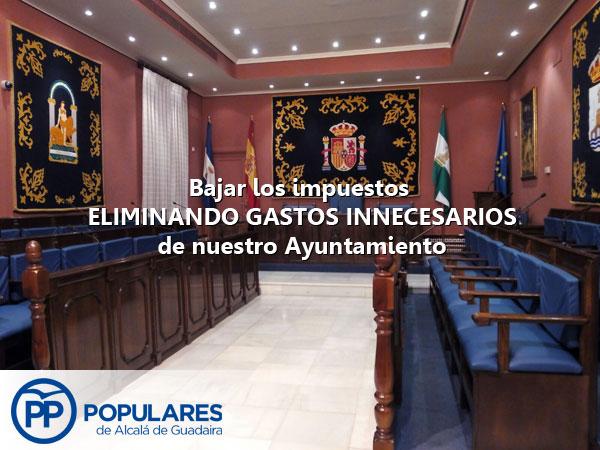 Bajar los impuestos en Alcalá es posible si eliminamos gastos innecesarios