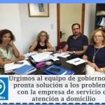 Concejales del Partido Popular de Alcalá de Guadaíra (Elena Ballesteros, CArmen Hornillo, José M. Villanueva y M. Águila Gutiérrez)