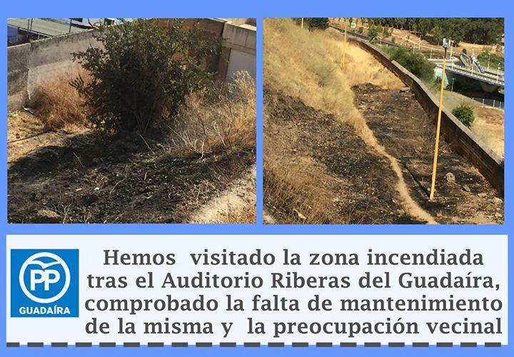 Incendio ladera castillo Alcalá de Guadaíra