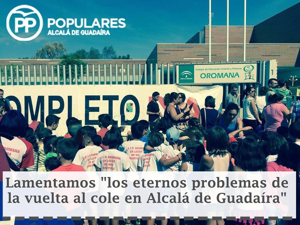 """Lamentamos """"los eternos problemas de la vuelta al  cole"""" en Alcalá de Guadaíra"""