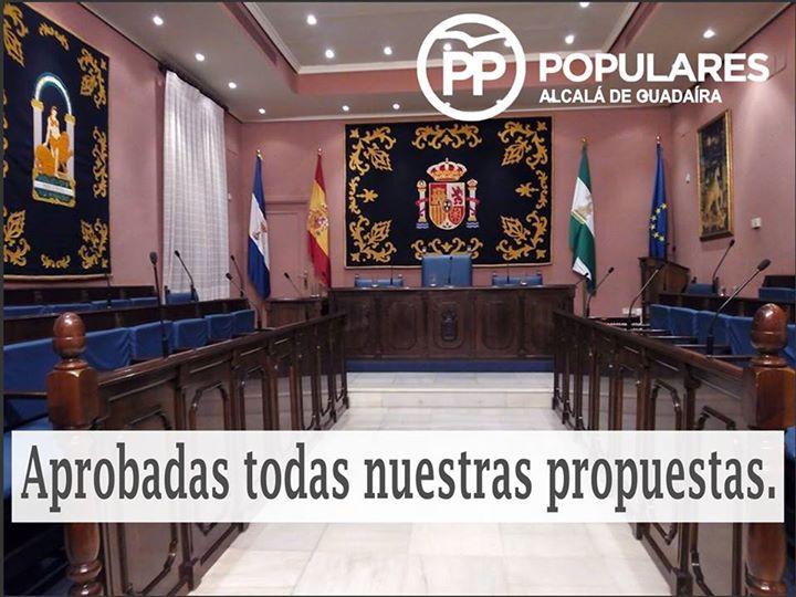 Aprobadas todas las propuestas del PP en el pleno municipal de Octubre 2015