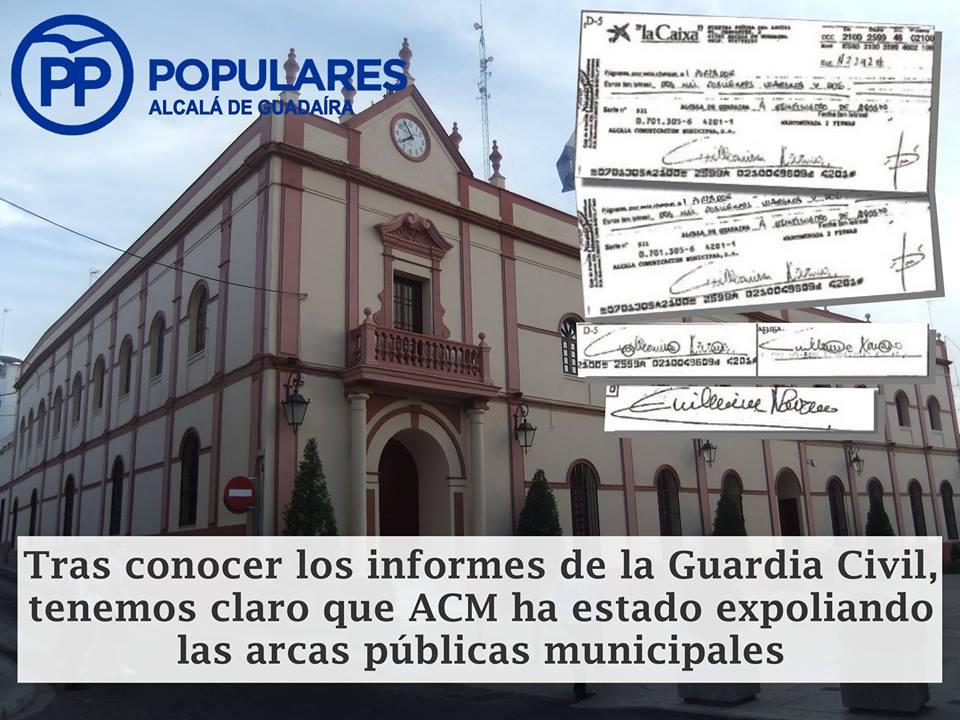 Cheques al portador de empresa municipal con firma falsa según la Guardia Civil