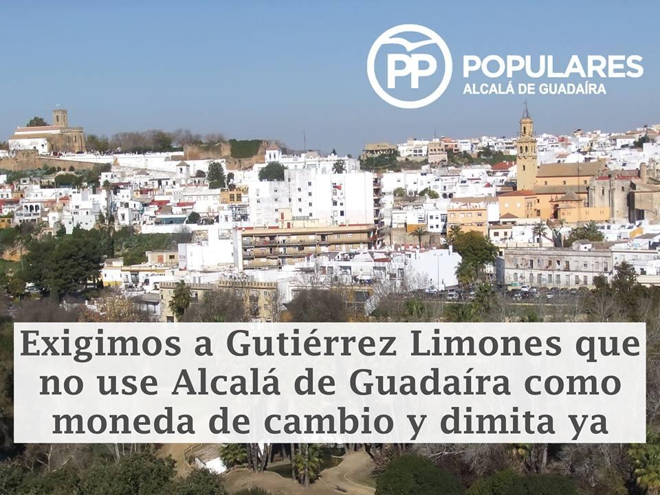 PP exige a Gutiérrez Limones que dimita ya y no use Alcalá como moneda de cambio