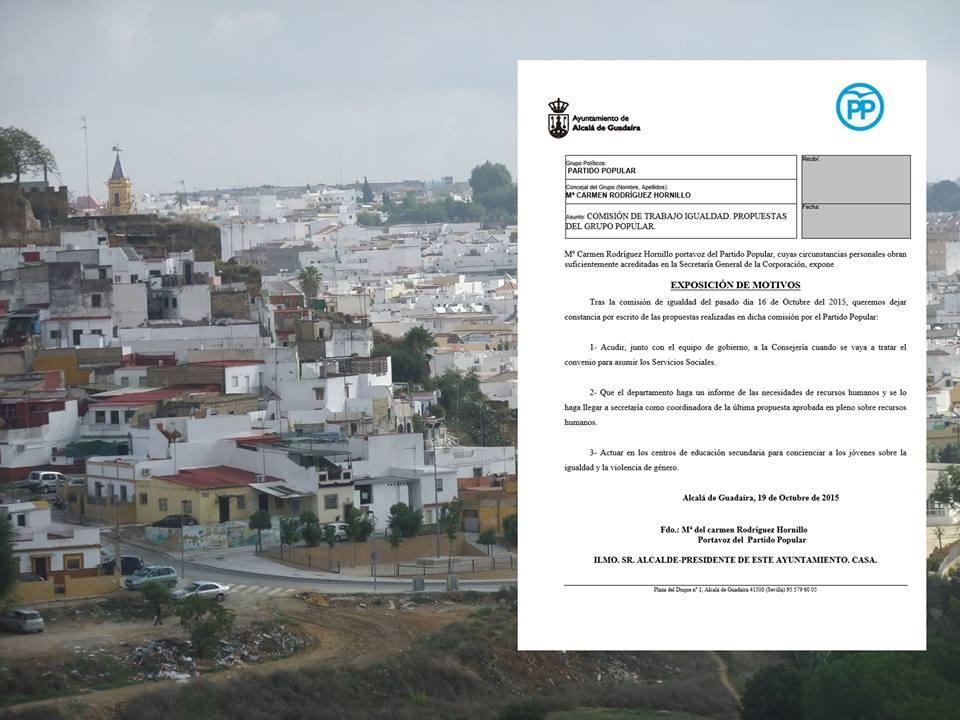 Propuestas realizadas en la Comision de Igualdad – Octubre 2015