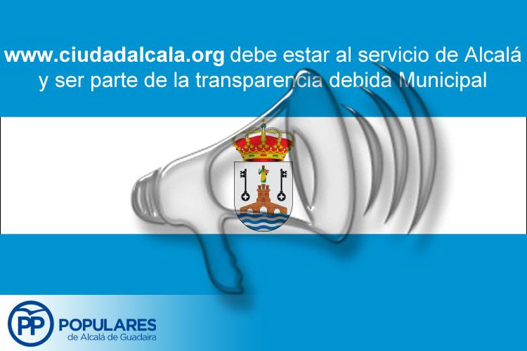 """Alcalá necesita conocer la verdad real municipal y no sólo """"una verdad parcial"""""""