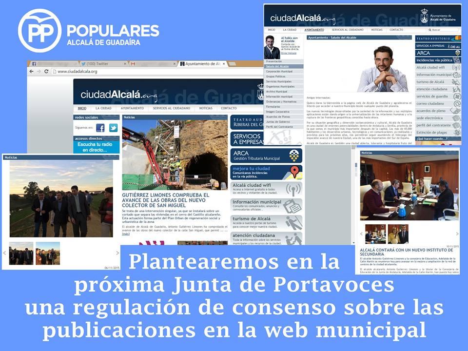 La web del Ayuntamiento al servicio de Alcalá y no del PSOE