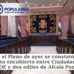 El PSOE suma mayorías fácilmente con Ciudadans y dos concejales de Alcalá Puede
