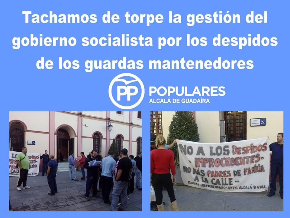 """""""gran torpeza"""" y desinterés del PSOE en preservar los derechos de los trabajadores municipales"""