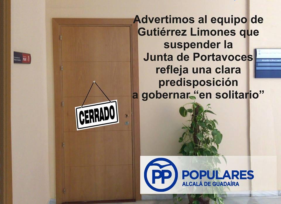 Ayuntamiento de Alcalá de Guadaíra - Suspendida de la Junta de Portavoces por falta de temas a tratar