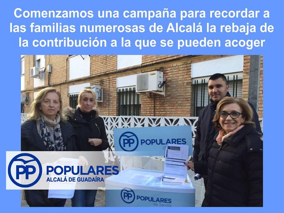 El 29 de Febrero acaba el plazo para pedir la rebaja del IBI a las familias numerosas de Alcalá.