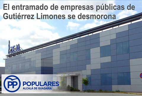 """Las empresas-sociedadas que funcionaban de propiedad Municipal  han ido cesando su actividad. quedando """"Innovar en Alcalá"""" únicamente."""