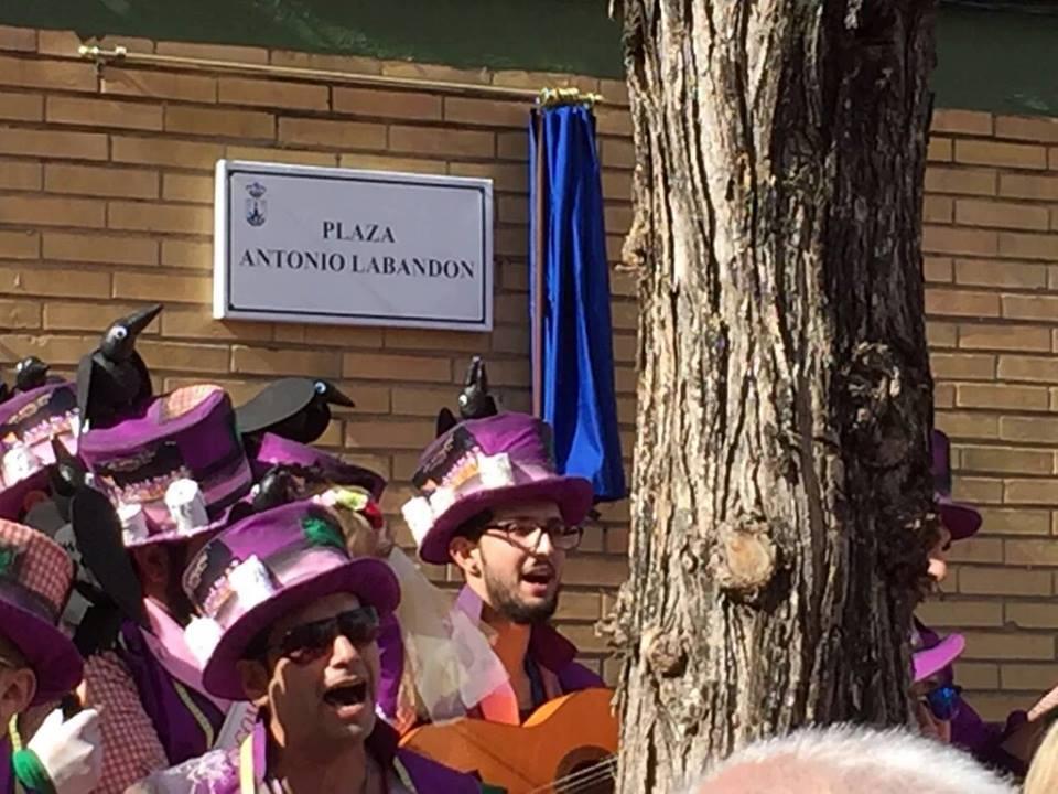 Homenaje a Antonio Labandón que ya da nombre a un plaza en la Zona Norte.