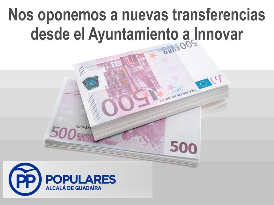 PSOE prepara una nueva transferencia a la sociedad INNOVAR por casi 1 millón €