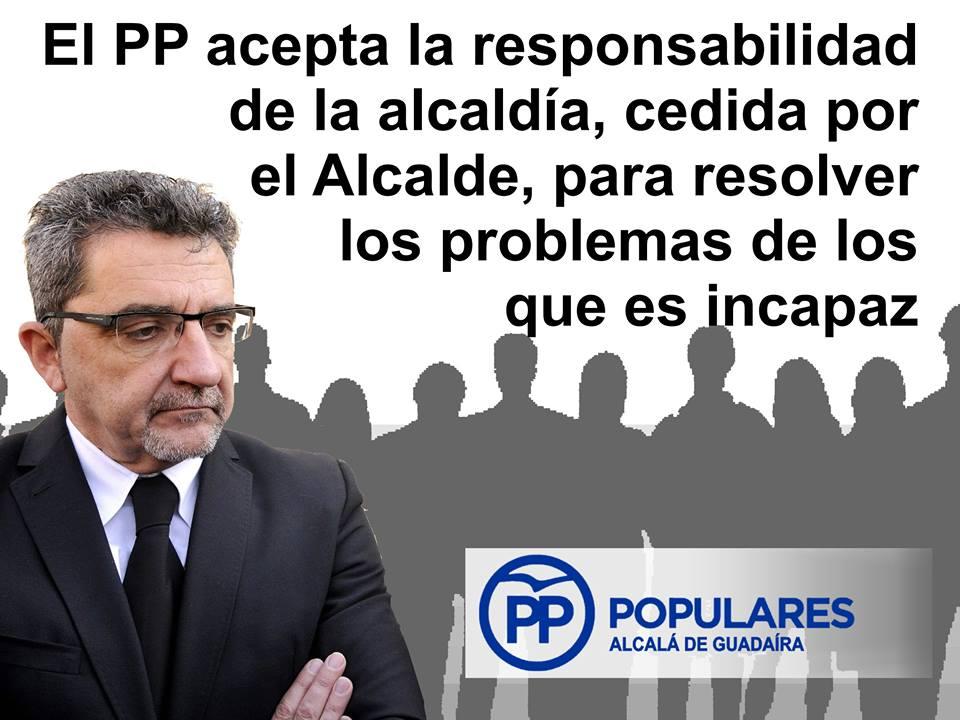Limones cedería la alcaldía al PP para resolver los problemas que PSOE no soluciona