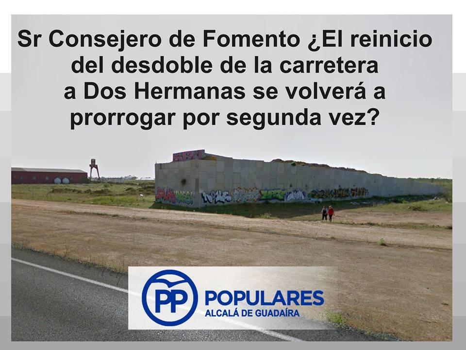 La carretera A-392 «Alcalá-Dos hermanas» necesita mas compromiso y menos aplazamientos