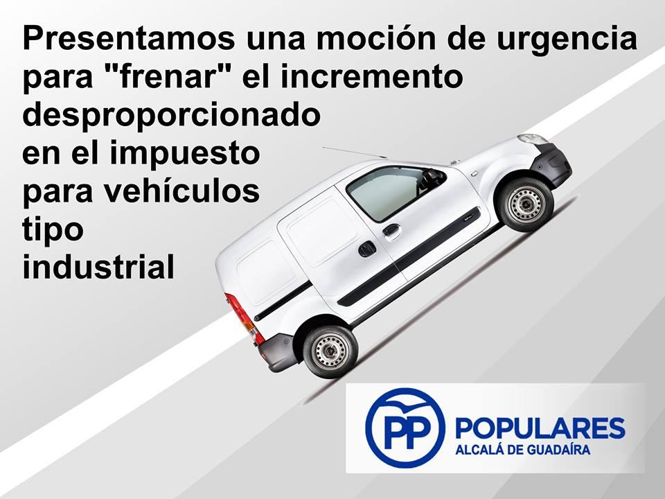 Moción para frenar el incremento desproporcionado del impuesto para vehículos tipo furgonetas