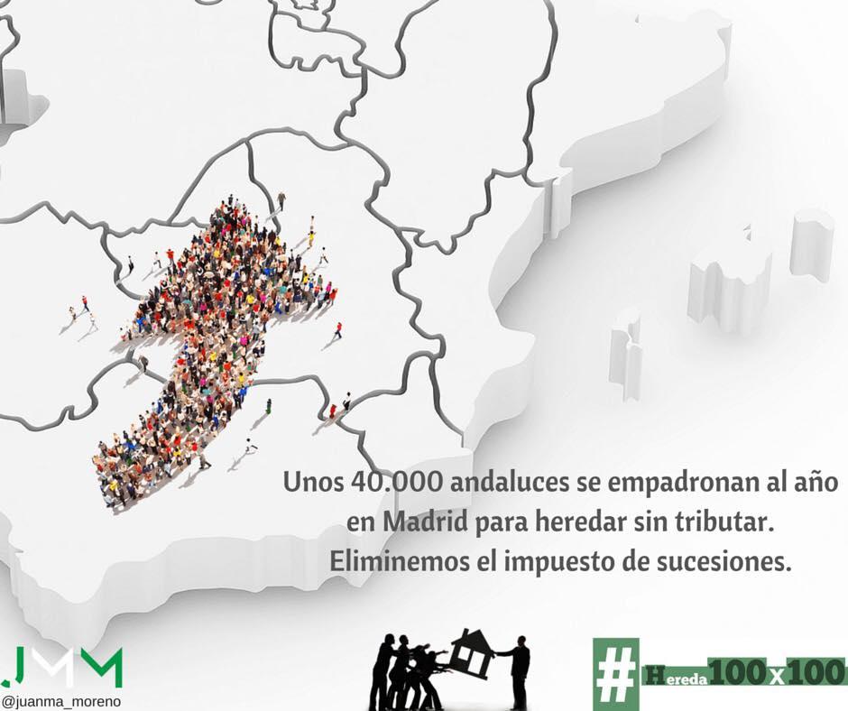 Juanma Moreno propone hoy la Ley del PP para bonificar el impuesto de sucesiones en Andalucía