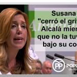 Susana Díaz viene a Alcalá para hacer las promesas de siempre de la Junta antes de Elecciones.