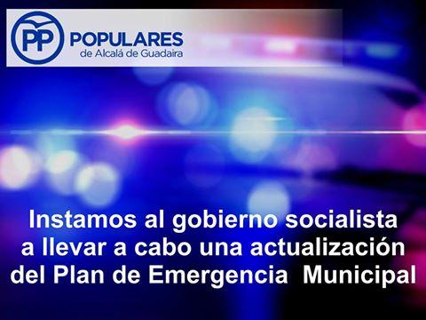 El Plan de Emergencia Municipal de Alcalá hay que actualizarlo