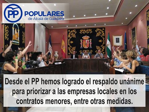 Conseguimos priorizar a empresas de Alcalá en contratos del Ayuntamiento