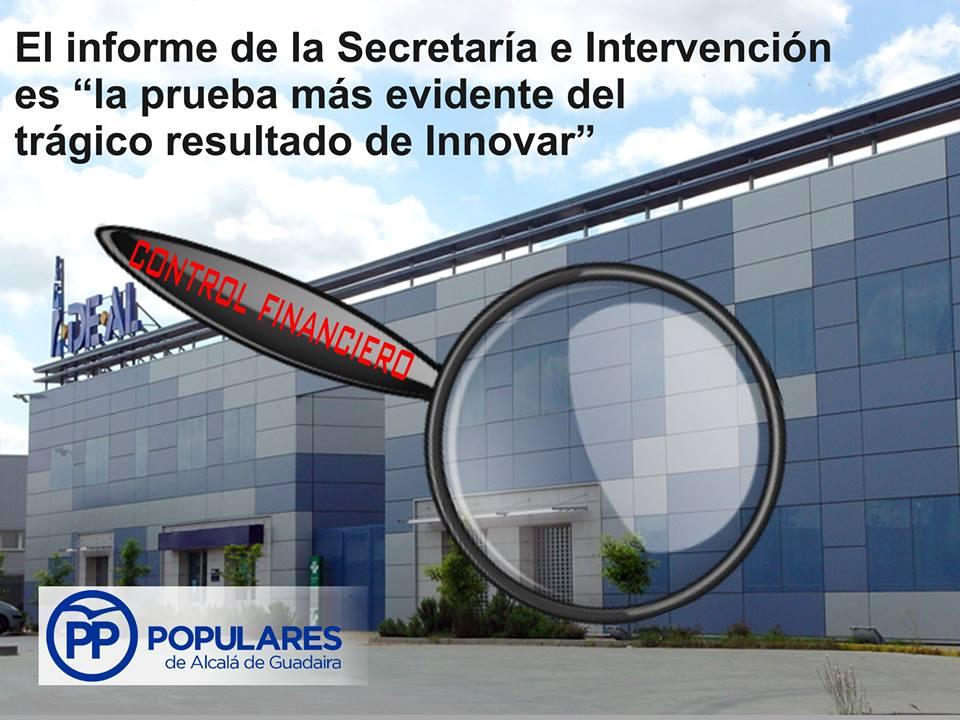 """El Informe de la Secretaría y la Intervención Municipal es la prueba más evidente del trágico resultado de """"Innovar"""""""