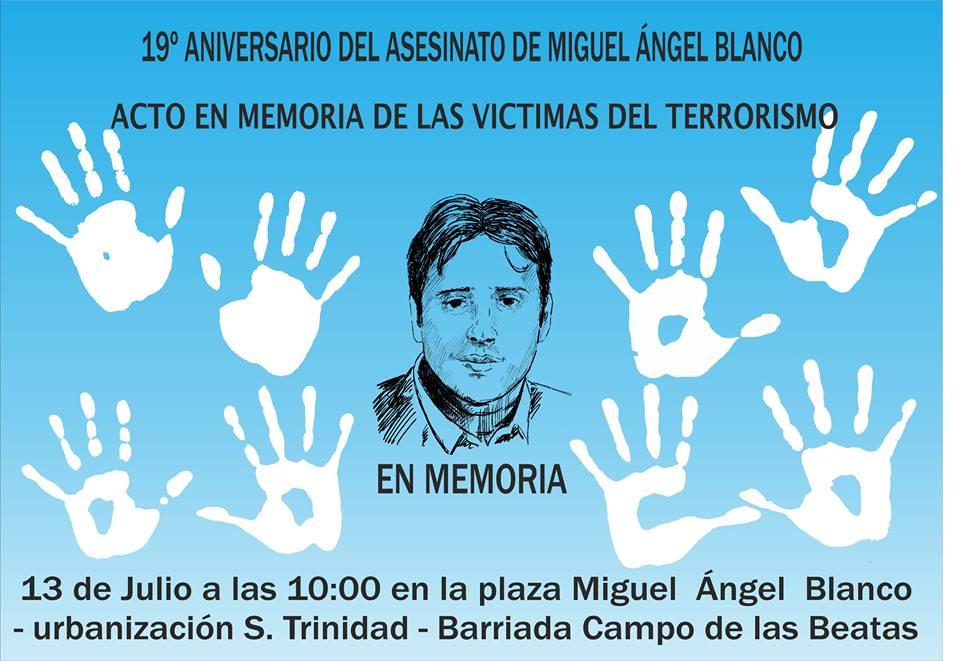 Acto en memoria de las víctimas del terrorismo – Aniversario Miguel Ángel Blanco