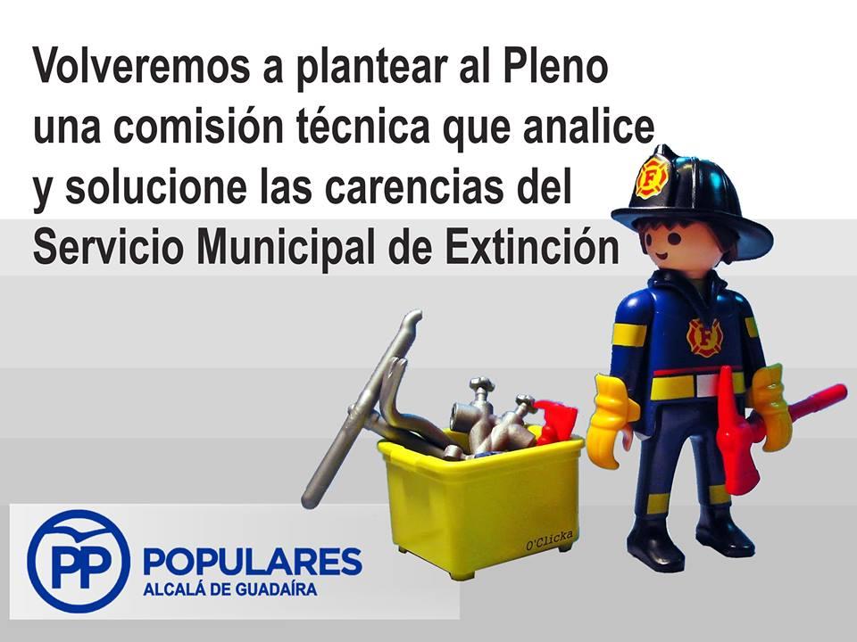 Los bomberos de Alcalá necesitan recursos proporcionales a nuestra población