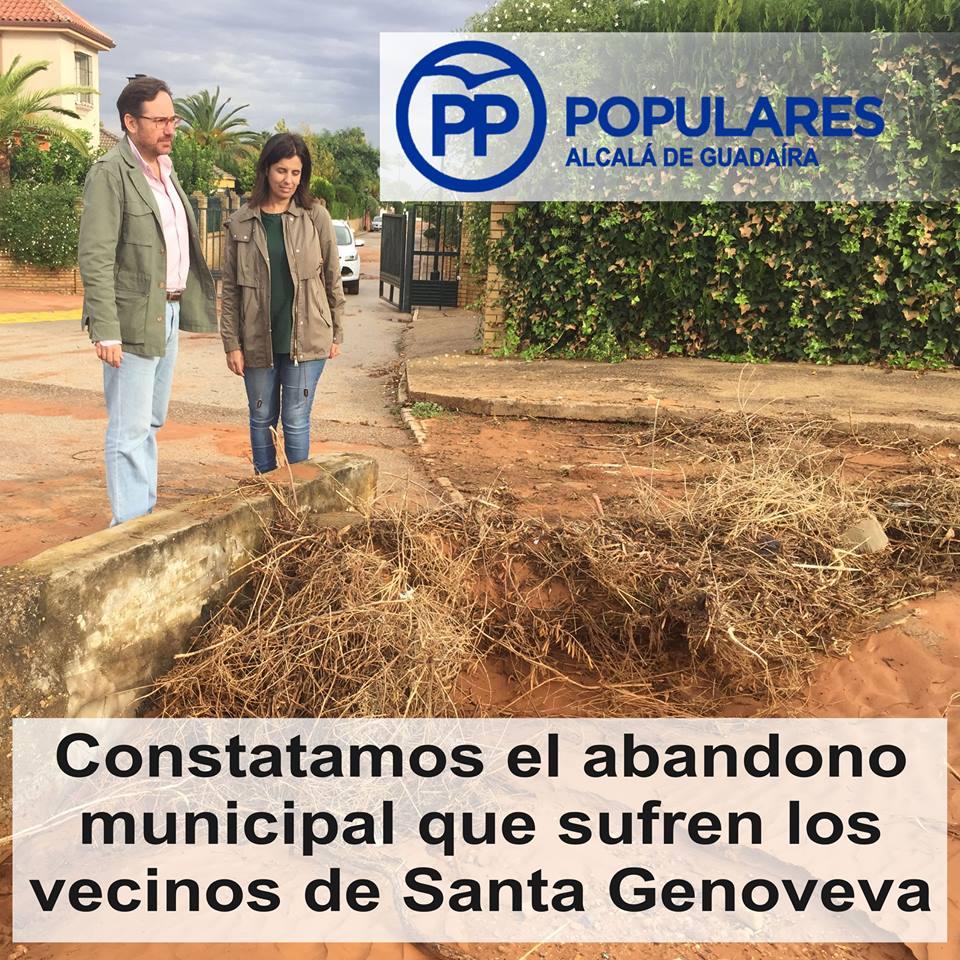 Vecinos de la urbanización Santa Genoveva sufren abandono desde hace años