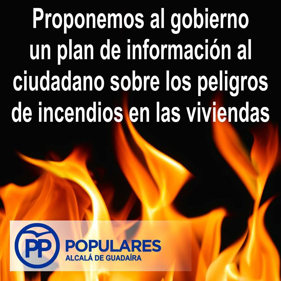 Plan de información para prevenir los incendios domésticos o reducir sus efectos