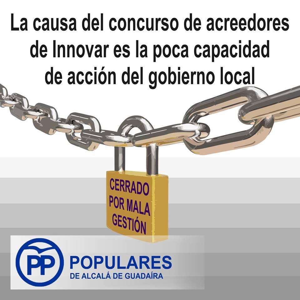 Otra vez el PSOE se equivoca y todos, una vez más, a pagar su error con Innovar