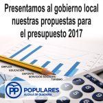 Propuestas para una mejor Alcalá desde el diálogo, que esperamos queden contempladas en el presupuesto de 2017