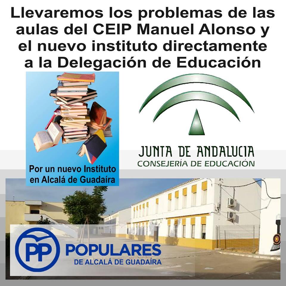 Todo lo posible por un nuevo Instituto y la reforma del CEIP Manuel Alonso, por una educación de calidad.