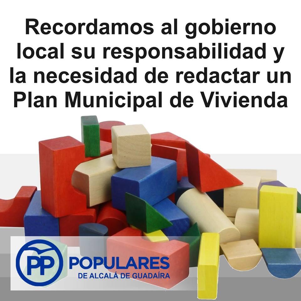 Siendo obligatorio y urgente durante estos años, desde 2010 no tenemos ningún Plan Municipal de Vivienda
