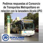 Un transporte para poder ir desde Alcalá a la Universidad Pablo de Olavide, que está también en Alcalá.