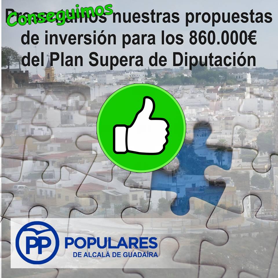 Las propuestas del PP para Alcalá están reflejadas en el acuerdo consensuado del PLAN SUPERA