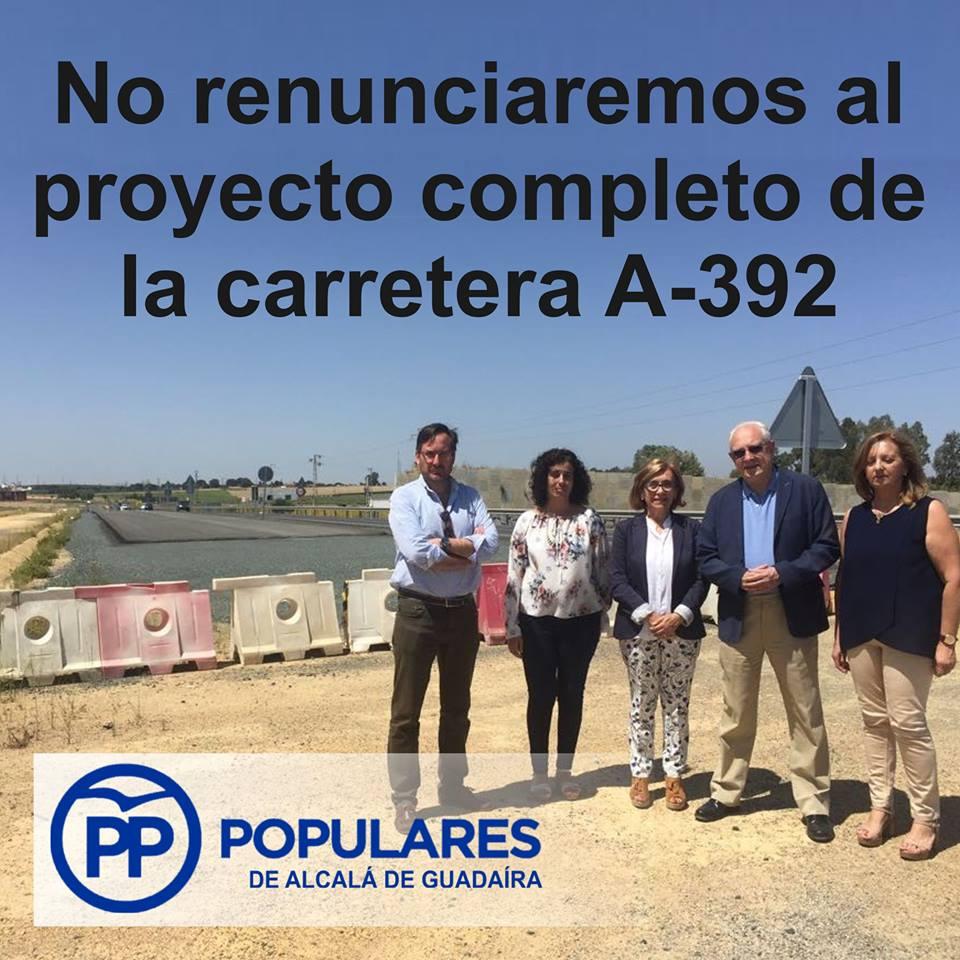 El desdoble de la Carretera de Alcalá/Dos Hermanas (A-392) es irrenunciable