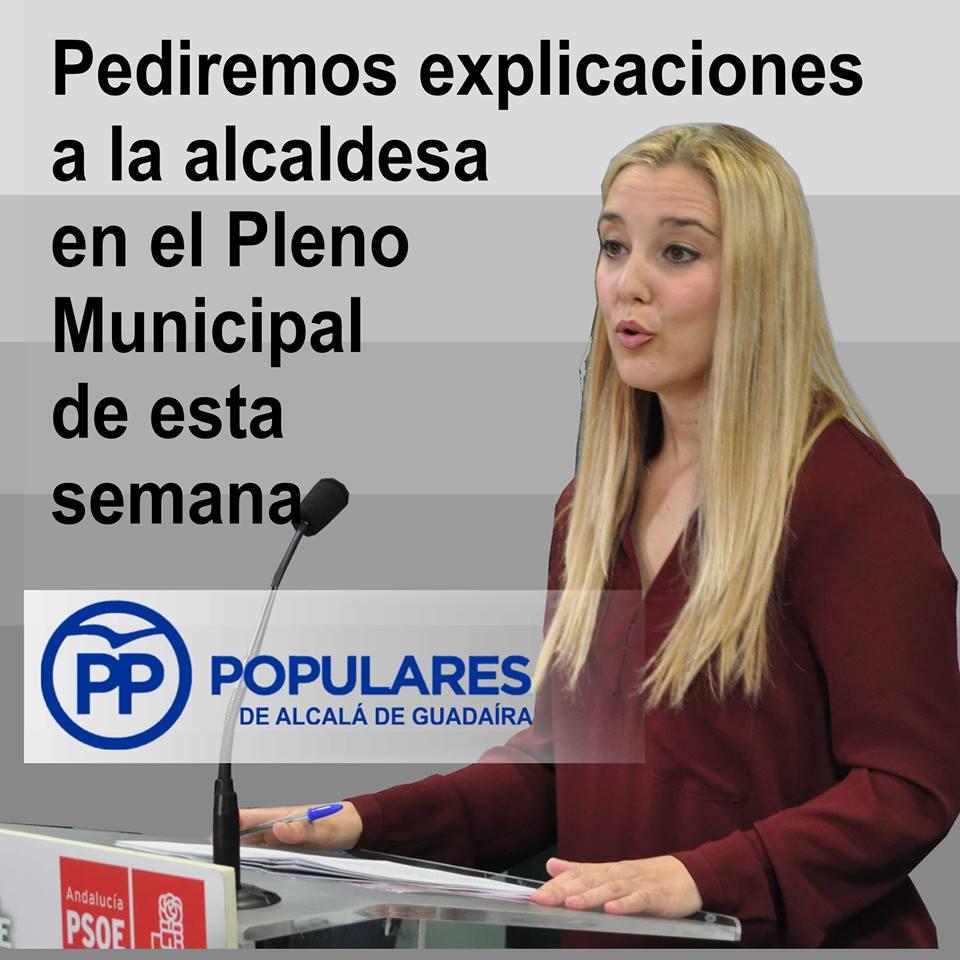 La Alcaldesa debe explicar su relación con el caso de corrupción que afecta al PSOE de Alcalá, Gutiérrez Limones y ACM