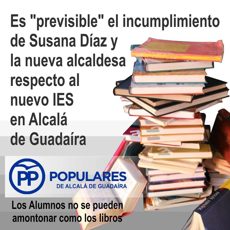 Parece que no habrá dinero para el nuevo Instituto de Alcalá de Guadaíra en 2017
