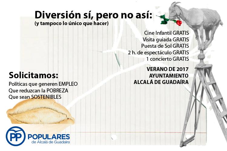Diversión para el verano en Alcalá de Guadaíra: Sí, pero no así. ¿Y el empleo?