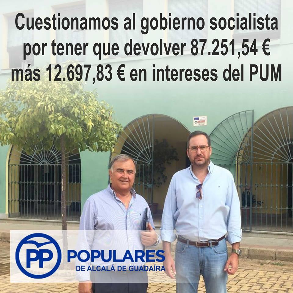 El PSOE pierde 100.000 € para empleos sociales por no ser capaz de justificar la necesidad