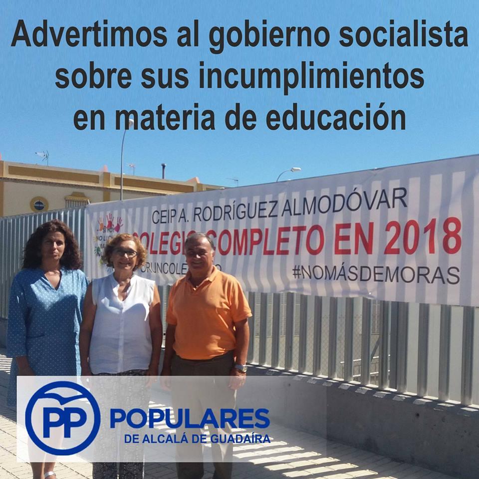 Inadmisible y repetida falta de planificación en Colegios e Institutos de Alcalá