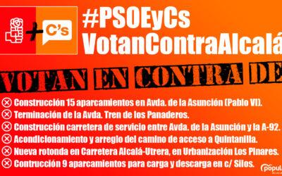 PSOE y Cs votan contra Alcalá.