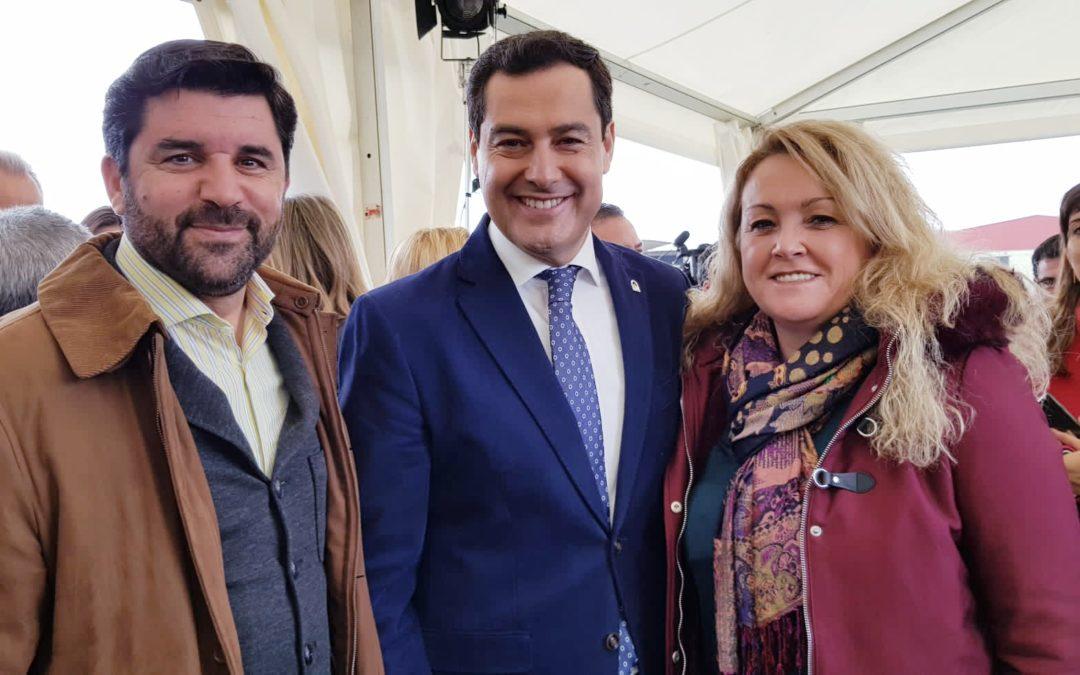 El presidente de la Junta, Juanma Moreno, inaugura la duplicación de la carretera A-392 Alcalá de Guadaíra-Dos Hermanas.