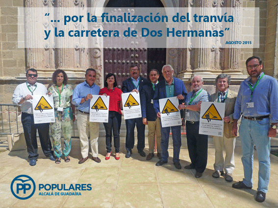 Empresarios y comerciantes de Alcalá junto al PP trabajando para finalizar la Ctra. de Dos Hermanas