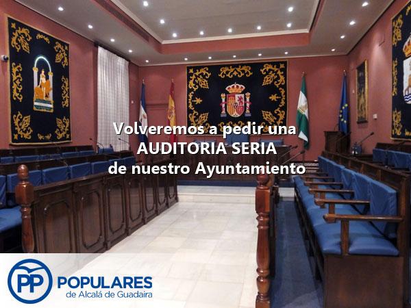 PP presentará una propuesta de AUDITORÍA SERIA de nuestro Ayuntamiento