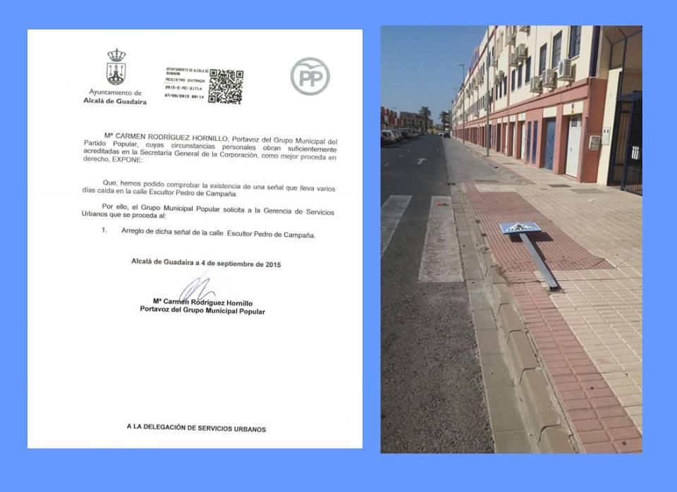 Escrito de atención a la Calle Juez Pérez Díaz