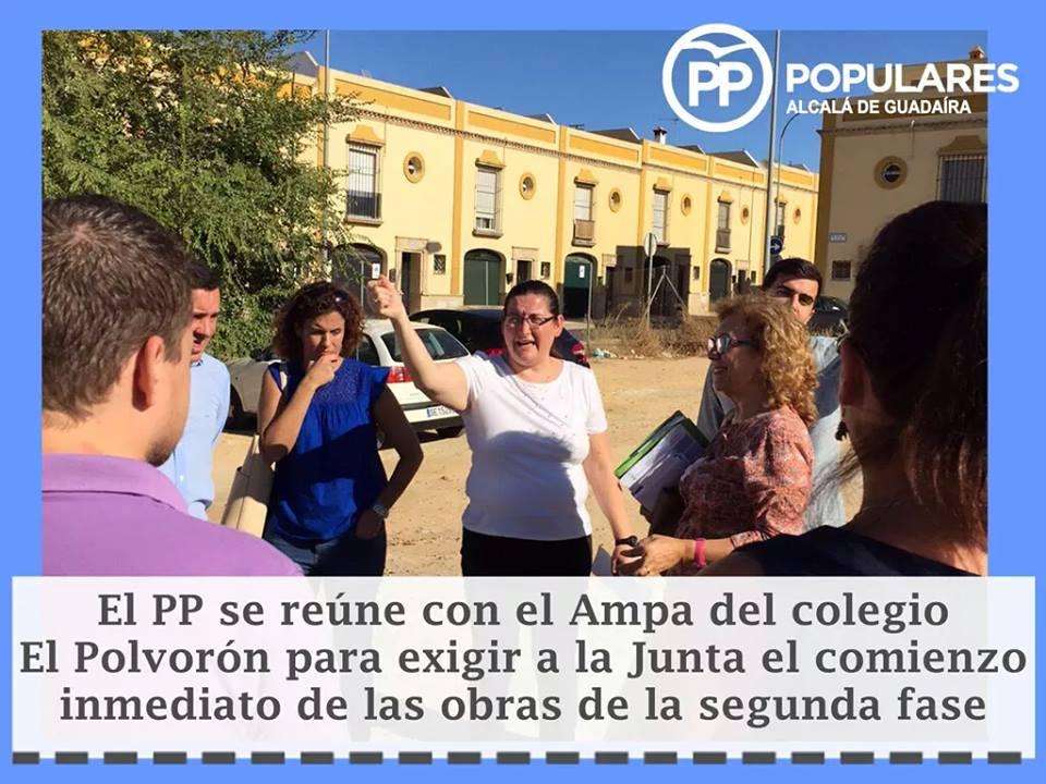 Colegio «El Polvorón»: Partido Popular ante los incumplimientos de la Junta y para exigir el comienzo de la segunda fase