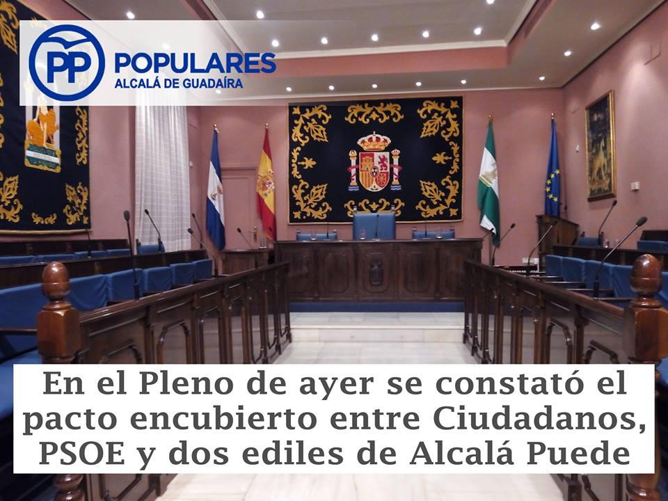 Pacto encubierto entre Ciudadans, PSOE y dos concejales de Alcalá Puede