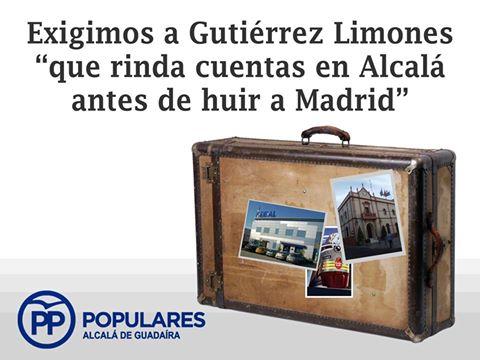 """PP ha exigido al Alcalde que """"rinda cuentas en Alcalá antes de huir al Congreso en Madrid""""."""
